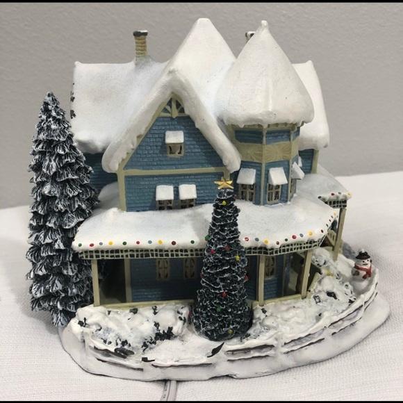 Thomas kinkade Christmas Hawthorne village houses